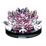 Besde Crystal Glass Lotus Car Air Vent Freshener Aromatherapy Perfume Diffuser (Purple, 1Set)