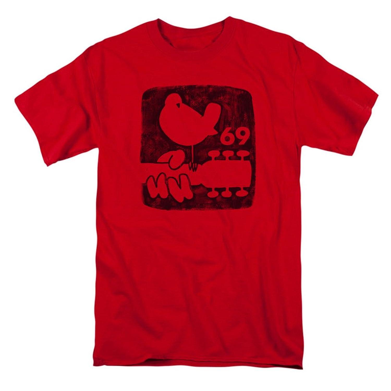 Woodstock Summer 69 Distressed Bird Logo Adult T-Shirt Tee