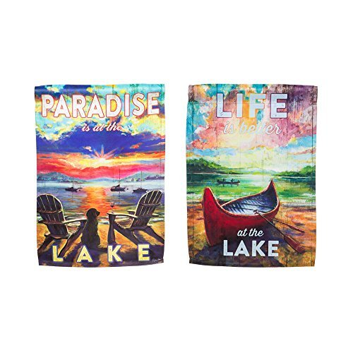 Gifted Living Garden Sublimation Printed Suede Paradise Lake