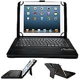 HP Omni 10 / HP 10 Plus Tablet Case, IVSO® HP Omni 10 / HP 10 Plus Tablet Bluetooth Keyboard Portfolio Case- DETACHABLE Bluetooth Keyboard Stand Case / Cover for HP Omni 10 / HP 10 Plus Tablet (Black)