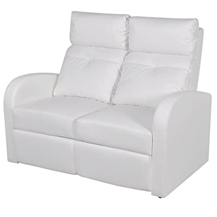 vidaXL Divano due posti reclinabile moderno elegante arredo casa ...