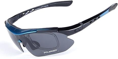 Aili Gafas de Sol polarizadas para Hombre, para Ciclismo, Bicicleta, Montaña, Bicicleta, Ciclismo, Protección, Gafas y Gafas, 5 Lentes, H: Amazon.es: Deportes y aire libre