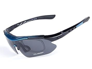 Aili Gafas de Sol polarizadas para Hombre, para Ciclismo, Bicicleta, Montaña, Bicicleta