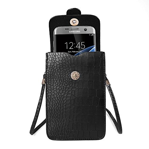 Sumaclife Vertical Shoulder Bag for Samsung Galaxy J7 / S7 Edge / S7 / S6 Edge / S6 Edge Plus / S6 Active / A5 / A7 / A8 / A9 / E5 / E7 / Grand Max / Neo Plus (Black)