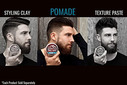 Pomade for Men – 5 oz Tub- Classic Styling Product with Strong Firm Hold for Side Part, Pompadour & Slick Back Looks – High Shine & Easy to Wash Out – Water Based