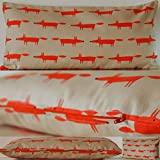 Scion Little Fox Fabric. Ginger 24x12 (60cmx30cm) Cushion with Hollowfibre Pad by Jessica Anna