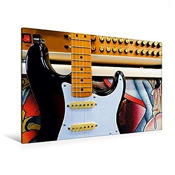 Premium Textil de lienzo 120 cm x 80 cm Horizontal Stratocaster Guitarra eléctrica Antes Half Stack | Lienzo, Montado en bastidor, imagen sobre auténtica ...