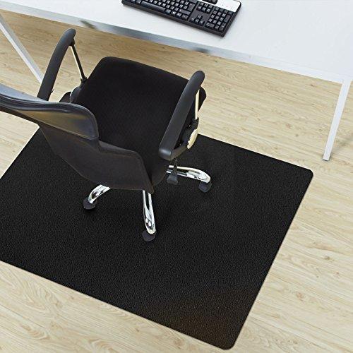 black polycarbonate chair mat