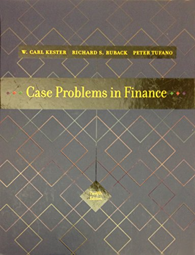 Case Problems in Finance (Irwin Series in Finance, Insurance, and Real Estate,)