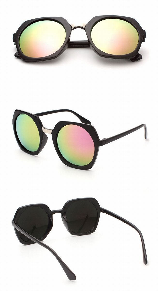 sonnenbrille Männer und frauen runden rahmen farbe Spiegel Retro ...