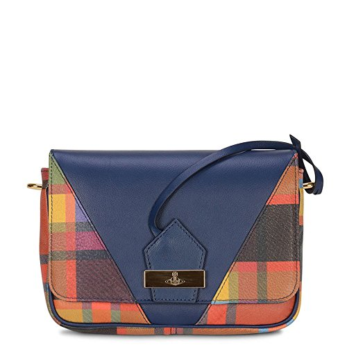 cfbeaa84fd Vivienne Westwood Amberley Leather Tartan Bag In Navy: Amazon.co.uk:  Clothing