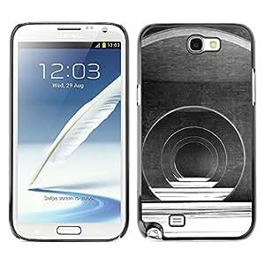Caucho caso de Shell duro de la cubierta de accesorios de protección BY RAYDREAMMM - Samsung Galaxy Note 2 N7100 - Hall Architecture Design Futuristic