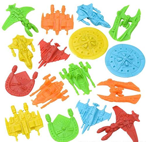 Rhode Island Novelty Plastic Space Ships Assortment | Pack of 144