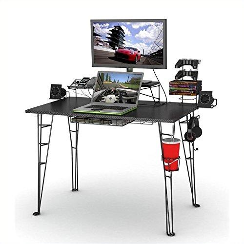Cheap Atlantic Inc Gaming Desk and Task Chair Set in Black