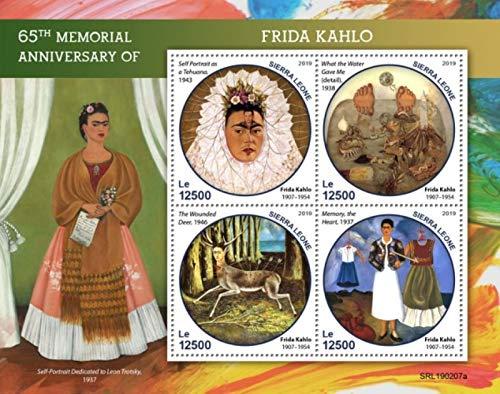 Sierra Leone - 2019 Frida Kahlo - 4 Stamp Sheet - SRL190207a