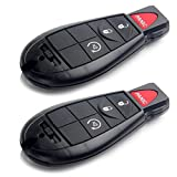 Scitoo 2pc New Replacement Keyless key Fob For Dodge Chrysler Jeep Fobik Remote Iyz-C01c M3N5WY783X 4 Button Uncut