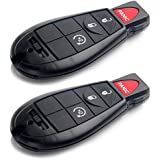 SCITOO 2X Uncut Keyless Entry Remote key Fob 4 Buttons Replacement fit Dodge Chrysler Jeep Volkswagen M3N5WY783X