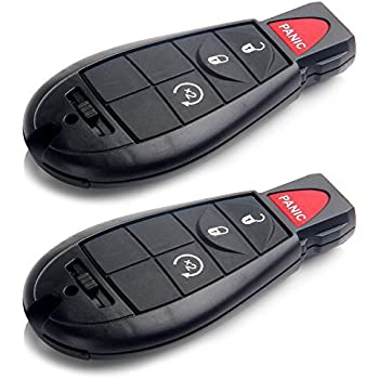 SCITOO Replacement 2X 4 Button Uncut 433MHz Keyless Entry Option fit for Dodge/Chrysler/ Jeep/Volkswagen Routan Series M3N5WY783X
