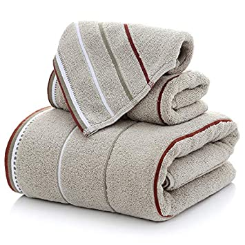 BB.er Juego de Toallas de baño Grandes de algodón para Aumentar el Juego de Toallas de Pelusa Absorbente de Agua Blanda, Gris: Amazon.es: Hogar