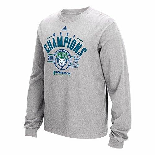 (adidas Minnesota Lynx 2017 WNBA Finals Champs Long Sleeve Grey T-Shirt Men's)