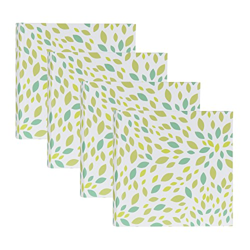 UNIEK DesignOvation Leaves Blue and Green Pattern Photo A...