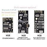 HiLetgo 3pcs M18 Wireless Bluetooth MP3 Audio