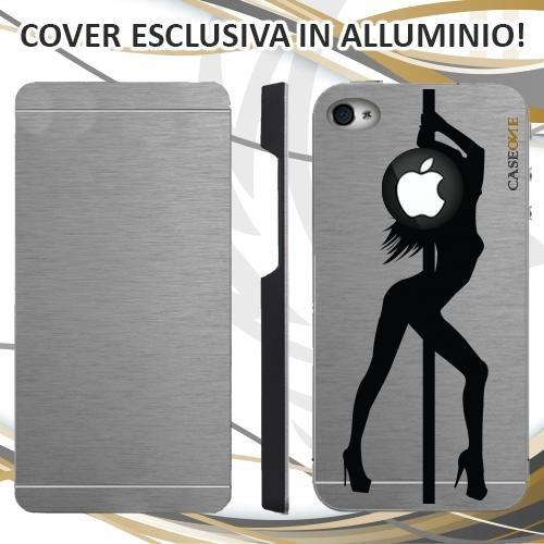 CUSTODIA COVER CASE LAP DANCE PER IPHONE 4 ALLUMINIO TRASPARENTE