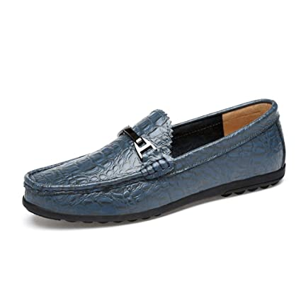a57a750f784 Amazon.com  Jun Mens Loafers - Italian Dress Casual Loafers for Men -  Slip-on Driving Shoes - in Gift Shoe Bag (Color   Blue