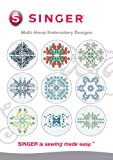 SINGER Multi-Hoop Embroidery Designs CD for Futura with 10 Designs