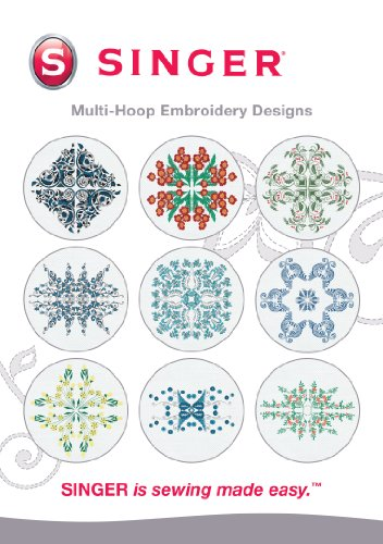 SINGER Multi-Hoop Embroidery Designs CD for Futura with 10 Designs Singer Futura Sewing Embroidery Machine