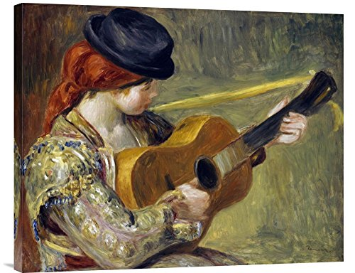 (Global Gallery Budget GCS-267135-30-142 Pierre-Auguste Renoir Girl with A Guitar 1897