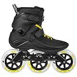 Powerslide Swell Black City 125mm 3 Wheel Inline Fitness Speed Skates (US 9 / EU 43)