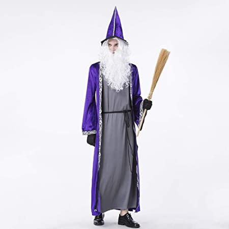 XIAOXIAO Disfraces de Halloween, púrpura Brujo Bosque Elf ...