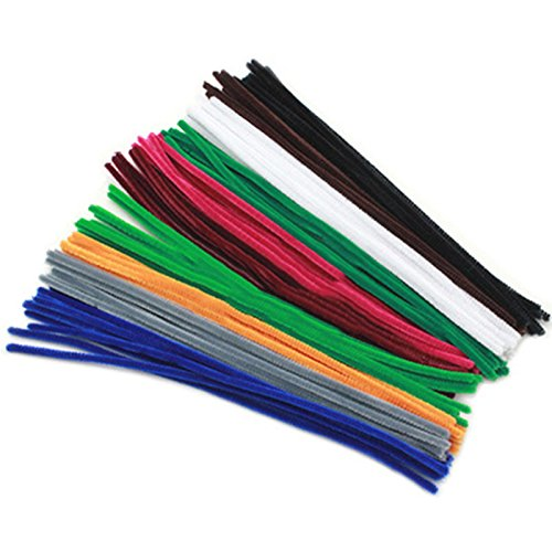 100pcs/lot Montessori Materials Math Chenille Sticks Puzzle Craft Children Kid Pipe Cleaner Educational Toys
