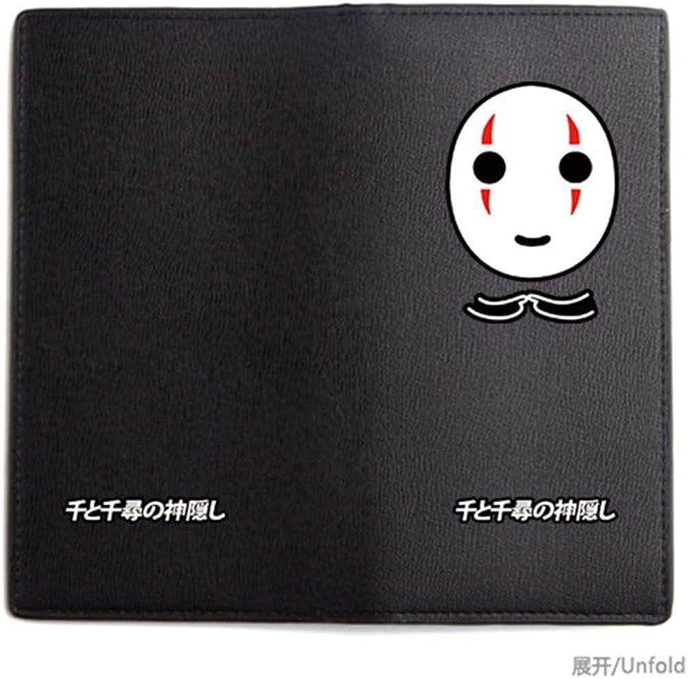 Spirited Away Black No Face Mask Printing Long Wallet Pu Leather Anime Purse Cartoon ID Card Holder Gift Money Bag