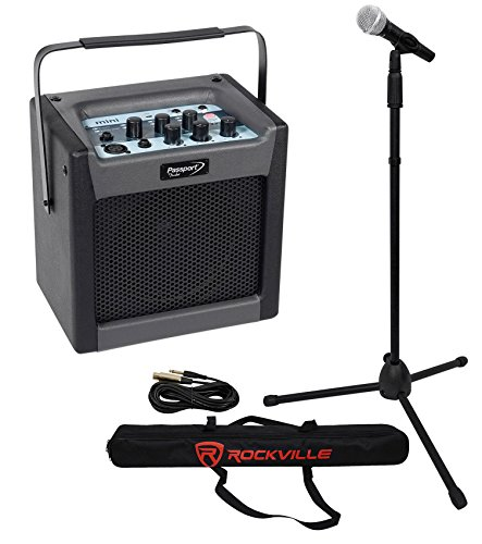 """FENDER PASSPORT MINI Portable 6.5"""" Powered Speaker/Monitor+Mic+Stand+Cable+Bag"""
