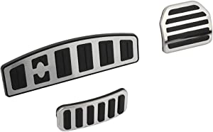 WHEELTECH fit for Range Rover AT LR3/LR4 Discovery 3/4 Sport(L320) Accelerator Gas Pedal Brake Cover Aluminum Performance Foot Set Non-Slip Replacement Pad Fit for 05-16 Range Rover