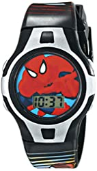 Marvel Kids' SPMKD553 Spider-Man Digital Watch in Candy Cane Gift Packaging