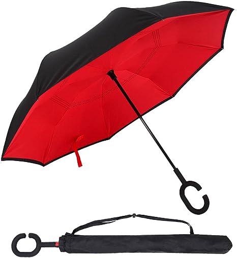 Zoqio - Paraguas invertido, paraguas UV invertido para coche y ...