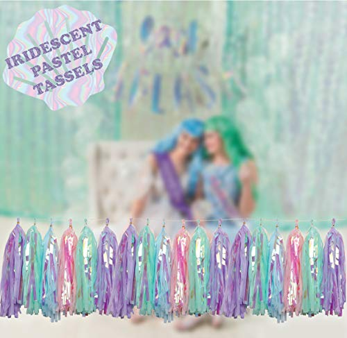 Mermaid Tails Under The Sea Decorations Supplies Kit for Birthday, Bridal & Baby Shower Themed Let's Be Little Mermaids Party - Premium Quality by PomPomGLAM Photo #7