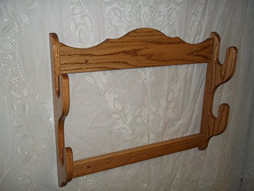 2 Gun Red Oak Display Rack ~ Golden Oak Finish - Oak Display Rack