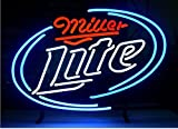 Miller Lite Beer Bar Pub Store Party Room Wall Windows Display Neon Signs 19x15
