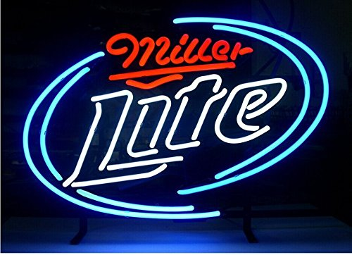 Miller Lite Beer Bar Pub Store Party Room Wall Windows Display Neon Signs - Miller Lite Wall
