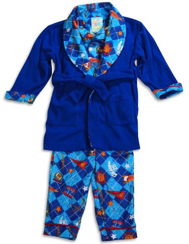 Baby Buns - Baby Boys 3 Piece Robe and Pajama Set