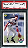PSA 10 CHIPPER JONES 1992 UPPER DECK MINOR LEAGUE # 66 ROOKIE RC BRAVES