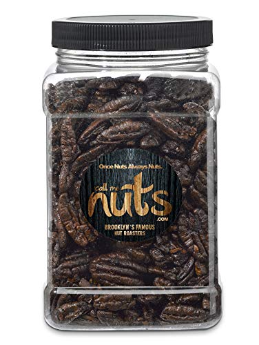 Gourmet Nuts Honey Glazed Fresh Flavored Jumbo Pecans in Bulk Basket Gift Jar Container - 28 oz.