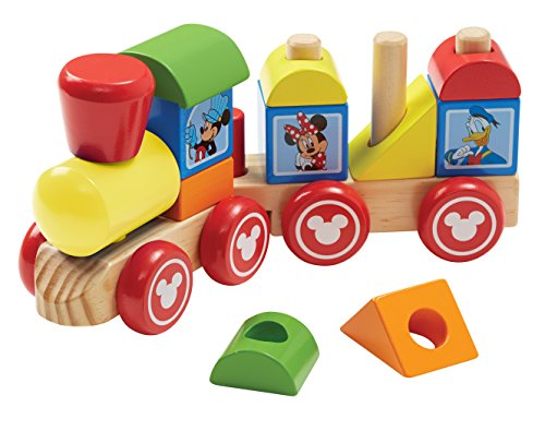 Melissa & Doug Disney Mickey Mouse and Friends Wooden Stacking Train (14 ()