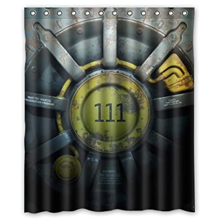 COLORFUL Custom Fallout Shower Curtain Stylish Waterproof Polyester Fabric Bathroom Deco 36 X 72 Amazoncouk Kitchen Home