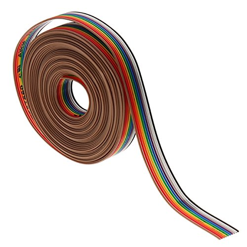 Pukido 5 Meters/Lot 10 Way 10 Pin Flat Color Rainbow Ribbon Rainbow Cable Wire 1.27mm Pitch by Pukido (Image #1)