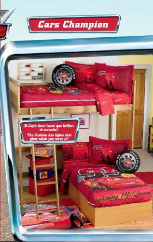 Amazon Com Disney Cars Bunk Bed Bedspread Set Home Kitchen